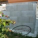Steinmauer für Außenpool